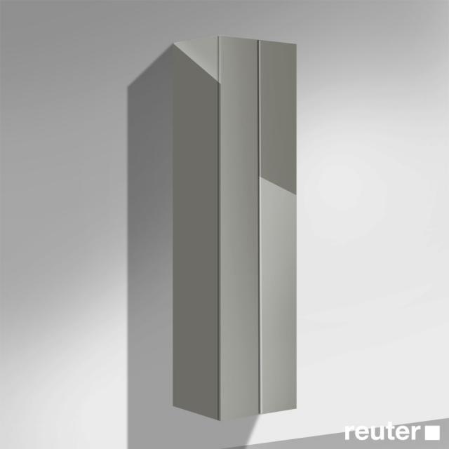 Burgbad Crono Koffertürenschrank mit 2 Türen Front grau hochglanz / Korpus grau hochglanz