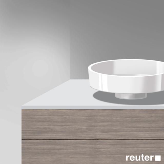 Burgbad Crono Konsolenplatte weiß matt
