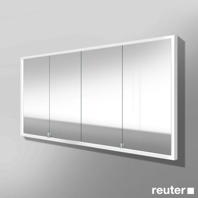 Burgbad Crono Spiegelschrank mit LED-Beleuchtung für Wandeinbau mit 4 Türen