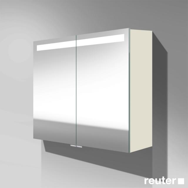 Burgbad Crono Spiegelschrank mit LED-Beleuchtung mit 2 Türen weiß matt, ohne Waschtischbeleuchtung