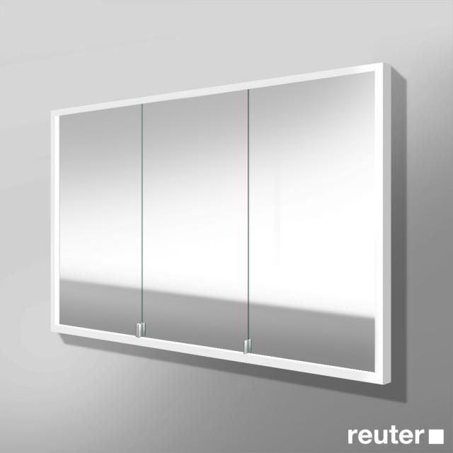 Burgbad Crono Spiegelschrank mit LED-Beleuchtung für Wandeinbau mit 3 Türen Version rechts