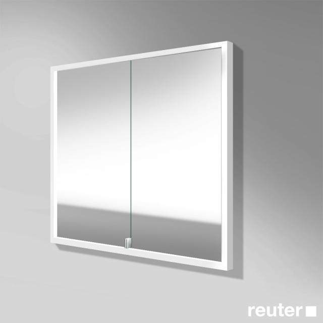 Burgbad Crono Spiegelschrank mit LED-Beleuchtung für Wandeinbau mit 2 Türen