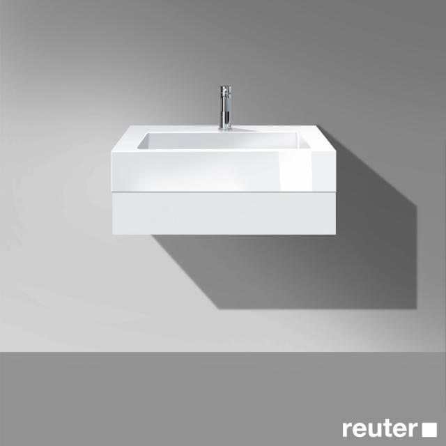 Burgbad Crono Waschtisch mit Waschtischkonsole mit 1 Schublade Front weiß matt/Korpus weiß matt/Waschtisch weiß