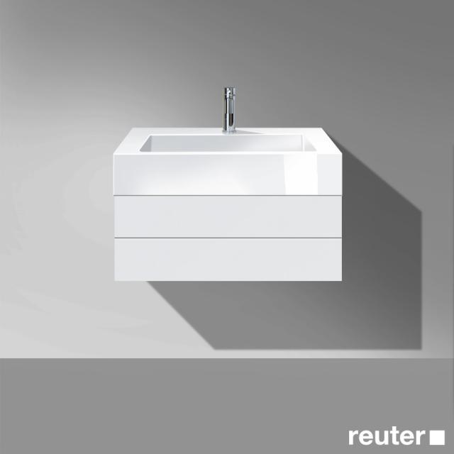 Burgbad Crono Waschtischunterschrank für Aufsatzwaschtisch mit 1 Auszug Front weiß matt/Korpus weiß matt