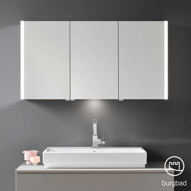 Burgbad Cube Spiegelschrank mit LED-Beleuchtung mit 3 Türen Farbtemperatur einstellbar