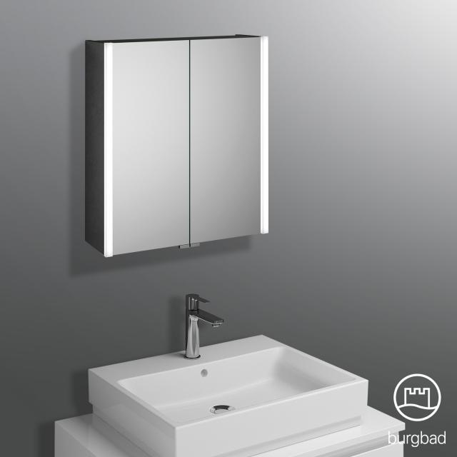 Burgbad Cube Spiegelschrank mit LED-Beleuchtung mit 2 Türen Farbtemperatur einstellbar