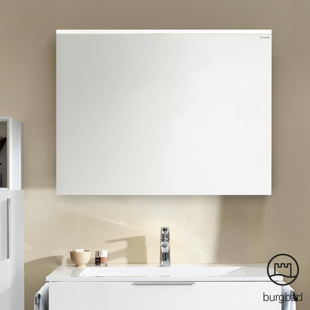 Burgbad Eqio Spiegel mit horizontaler LED-Aufsatzleuchte eiche cashmere dekor