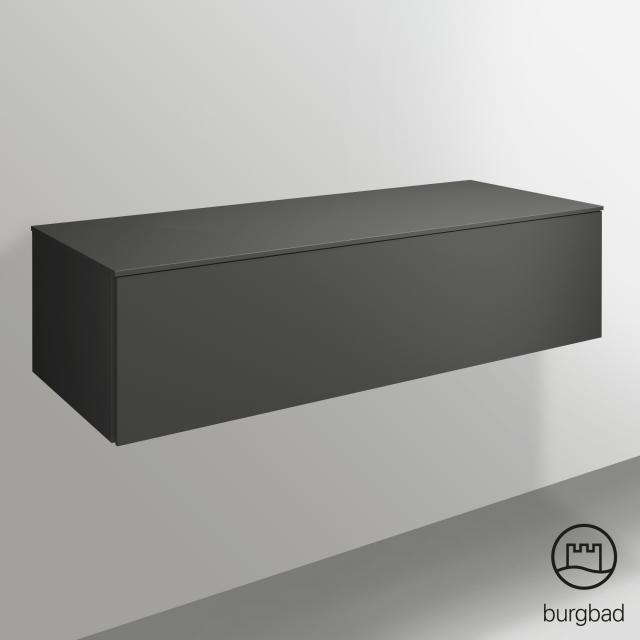 Burgbad Essence Sideboard mit 1 Auszug Front dunkelgrau matt/Korpus dunkelgrau matt