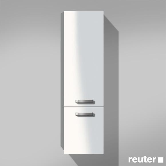 Burgbad Essento Hochschrank mit 2 Türen Front weiß hochglänzend / Korpus weiß hochglänzend