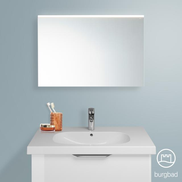 Burgbad Euro Spiegel mit LED-Beleuchtung weiß hochglanz/verspiegelt