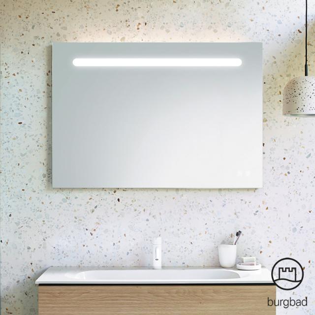 Burgbad Fiumo Leuchtspiegel mit horizontaler LED-Beleuchtung
