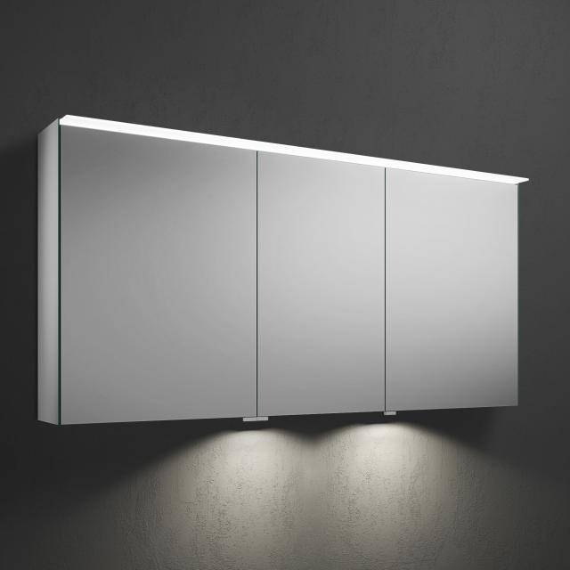Burgbad Fiumo Spiegelschrank mit LED-Beleuchtung mit 3 Türen mit Waschtischbeleuchtung