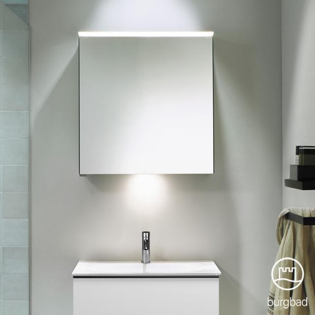 Burgbad Fiumo Spiegelschrank mit LED-Beleuchtung mit 1 Tür mit Waschtischbeleuchtung