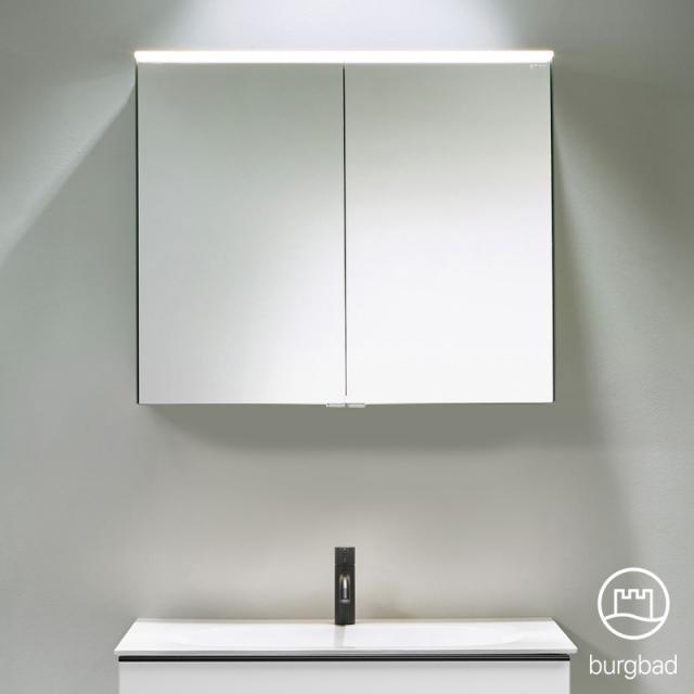 Burgbad Fiumo Spiegelschrank mit LED-Beleuchtung mit 2 Türen ohne Waschtischbeleuchtung