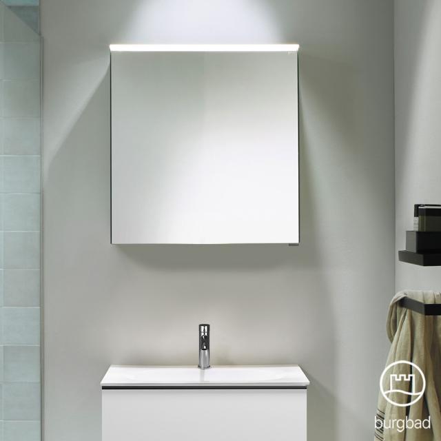 Burgbad Fiumo Spiegelschrank mit LED-Beleuchtung mit 1 Tür ohne Waschtischbeleuchtung