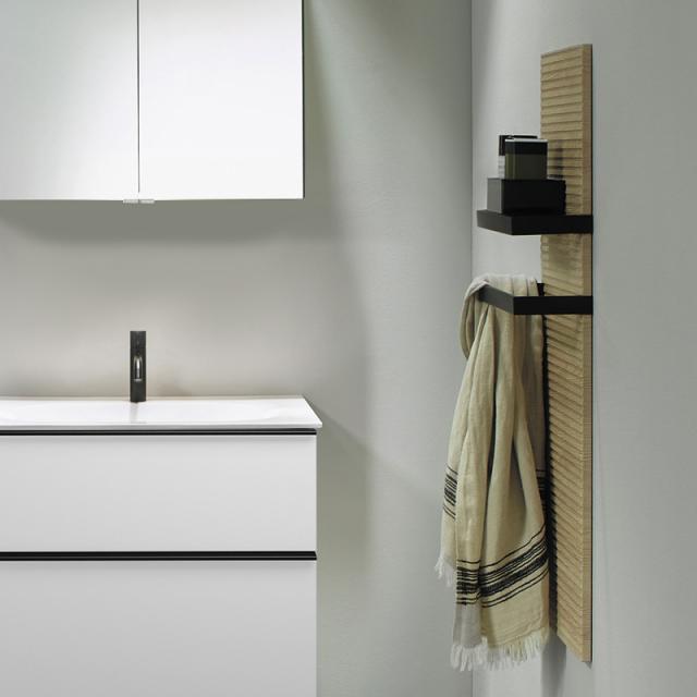 Burgbad Fiumo Wandpaneel mit zwei Handtuchhaltern eiche cashmere dekor