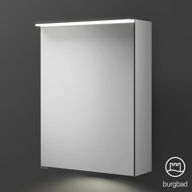 Burgbad Junit Spiegelschrank mit LED-Beleuchtung mit 1 Tür mit Waschtischbeleuchtung