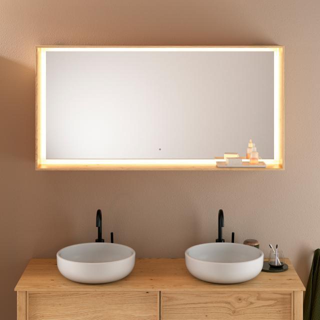 Burgbad Max Spiegel mit LED-Beleuchtung asteiche natur