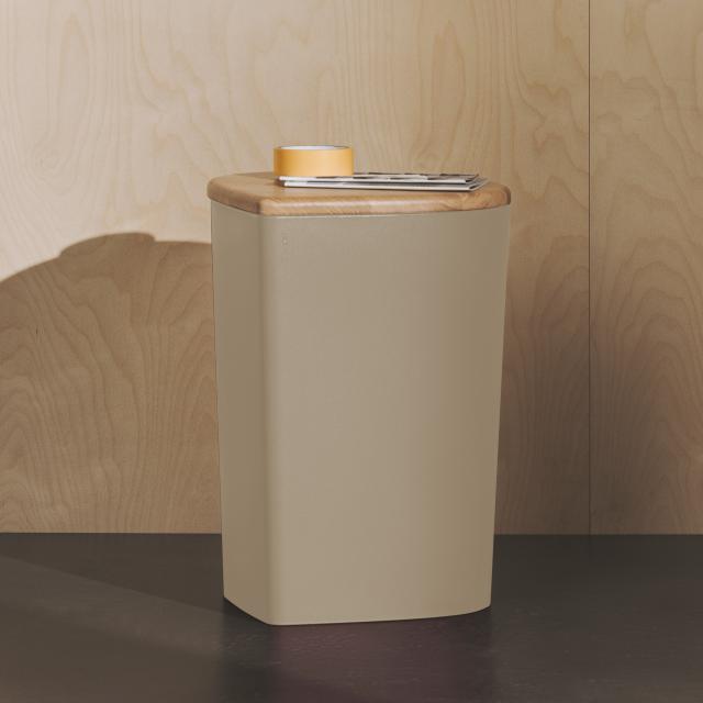 Burgbad Mya Hocker oder Aufbewahrungsbox mit Deckel beige