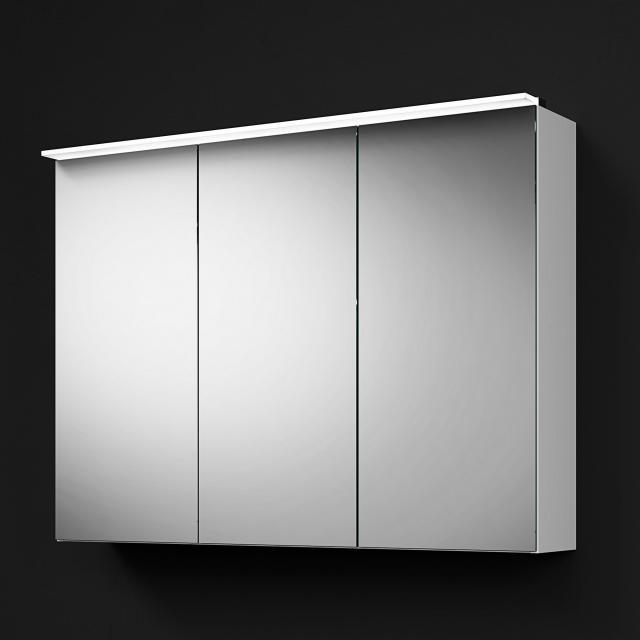 Burgbad RC40 Solitaire Spiegelschrank mit LED-Beleuchtung mit 3 Türen Korpus weiß matt