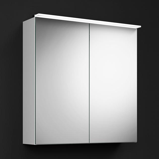 Burgbad RC40 Solitaire Spiegelschrank mit LED-Beleuchtung mit 2 Türen Korpus weiß matt