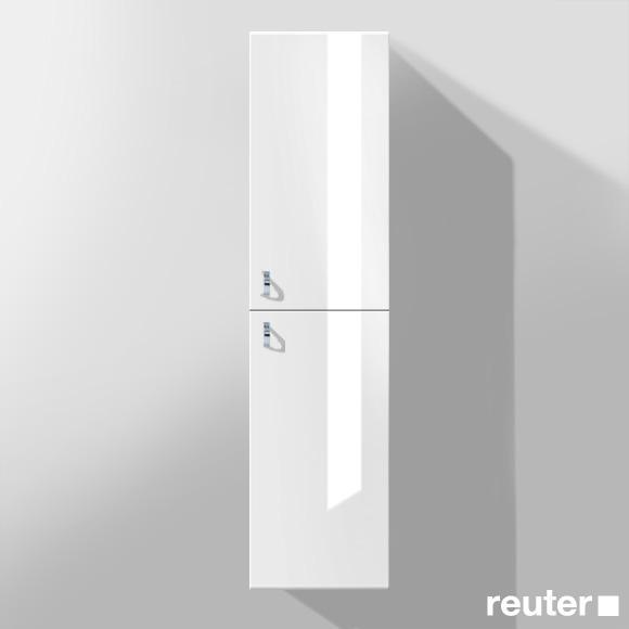 Burgbad Sinea Hochschrank mit 2 Türen Front weiß hochglanz/Korpus weiß glänzend