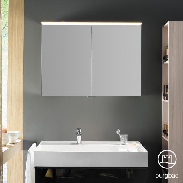 Burgbad Yumo Spiegelschrank mit LED-Beleuchtung und 2 Türen ohne Waschtischbeleuchtung