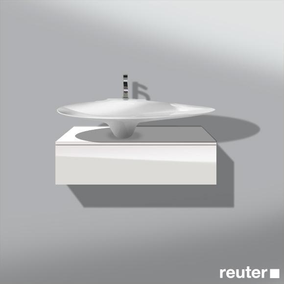 burgbad pli waschtischunterschrank mit waschtisch und 1 auszug front wei hochgl nzend korpus. Black Bedroom Furniture Sets. Home Design Ideas