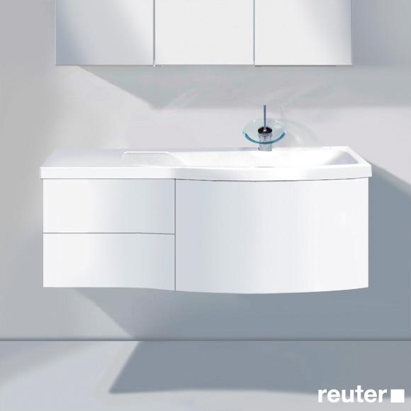 burgbad sinea waschtischunterschrank mit 1 auszug 2 schubladen und 1 waschtisch front wei matt. Black Bedroom Furniture Sets. Home Design Ideas