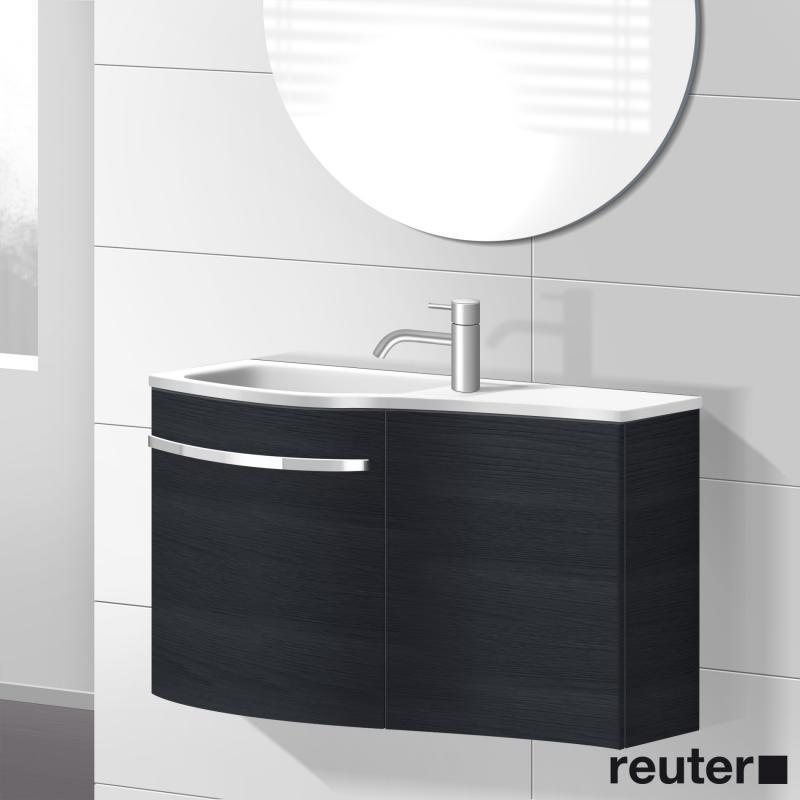 burgbad sinea waschtischunterschrank mit 2 t ren und waschtisch front hacienda schwarz korpus. Black Bedroom Furniture Sets. Home Design Ideas