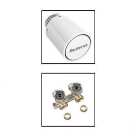 Buderus Logatrend Zubehörset Thermostatkopf mit Ventil und Verschraubung