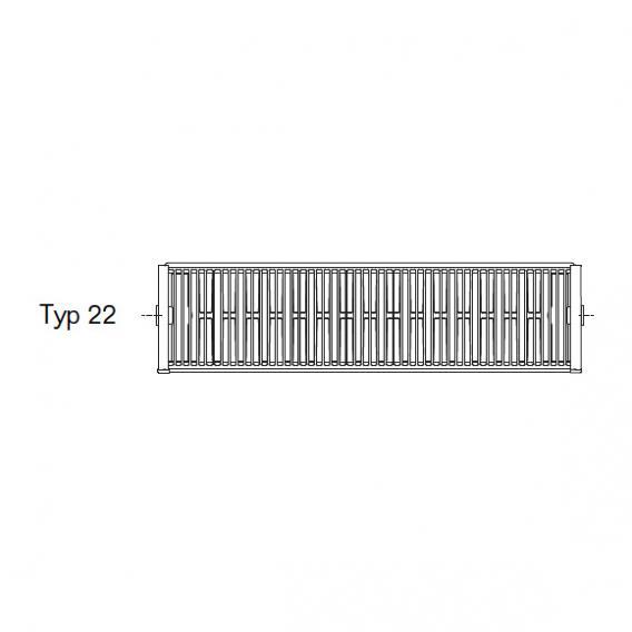 Buderus Logatrend Flachheizkörper-Plan-Kompakt Breite 1000 mm, Leistung 1646 Watt
