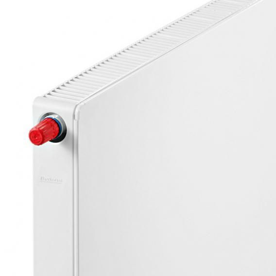 Buderus Logatrend Flachheizkörper-Plan-Ventil-Kompakt Breite 1000 mm, Leistung 1646 Watt, Ventil links