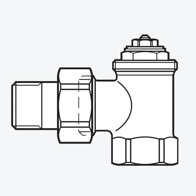 Buderus Logafix Heizkörper-Thermostatventil Eckform