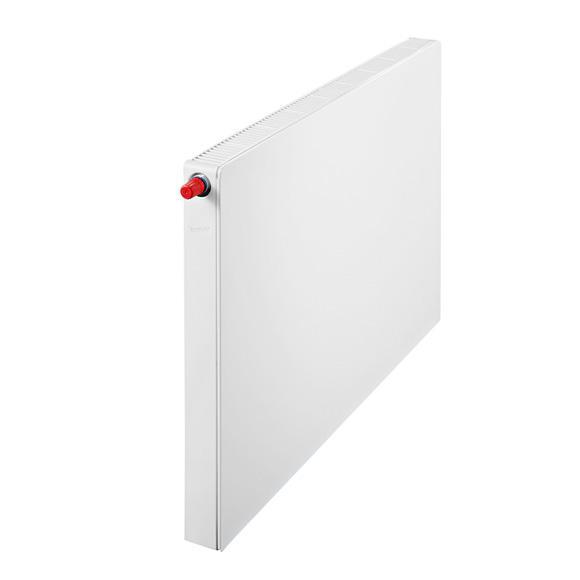 Buderus Logatrend Flachheizkörper-Plan-Ventil-Kompakt Breite 1400 mm, Leistung 1750 Watt, Ventil links