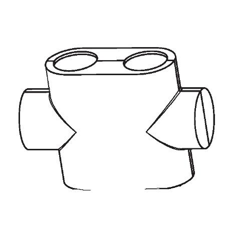 Buderus OV Design Abdeckung für Multiblock T weiß