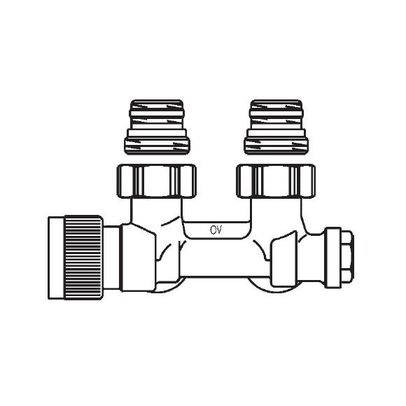 Buderus OV Multiblock T Zweirohrarmatur mit Voreinstellung