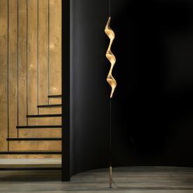 CINI&NILS Acqua filo Downlight LED Stehleuchte mit Deckenbefestigung u. Gegengewicht gold matt