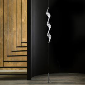 Cini & Nils Acqua filo Downlight LED Stehleuchte mit Deckenbefestigung u. Gegengewicht silber matt
