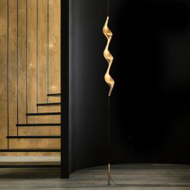 CINI&NILS Acqua filo Uplight LED Stehleuchte mit Deckenbefestigung u. Gegengewicht gold matt