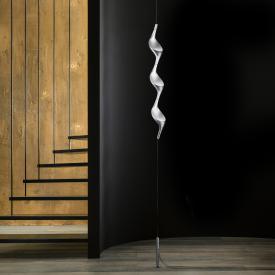 Cini & Nils Acqua filo Uplight LED Stehleuchte mit Deckenbefestigung u. Gegengewicht silber matt