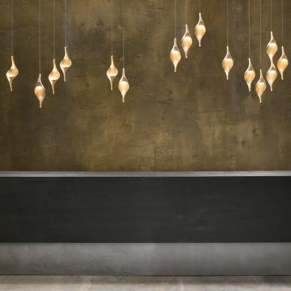 Cini&Nils Acqua LED Pendelleuchte Uplight 3-flammig gold matt