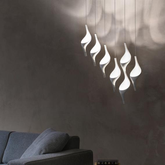 Cini&Nils Acqua LED Pendelleuchte Uplight mit Dimmer 1-flammig weiß