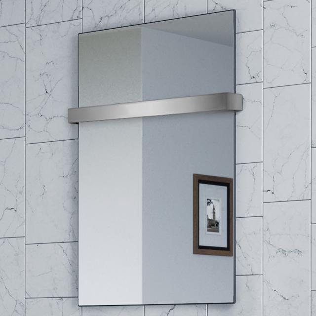 Corpotherma Spiegel Infrarotheizungs-Set mit Handtuchhalter 600 Watt