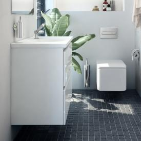 Cosmic b-box Waschtisch rund mit Waschtischunterschrank mit 2 Auszügen Front weiß matt / Korpus weiß matt