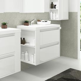 Cosmic b-smart Waschtisch mit Waschtischunterschrank mit 2 Auszügen Front weiß glanz / Korpus weiß glanz