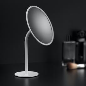 Cosmic Black & White Stand-Kosmetikspiegel weiß matt