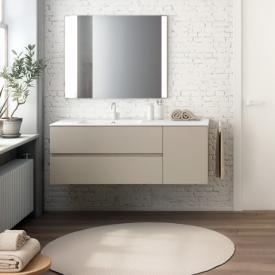 Cosmic Mod Waschtisch mit Waschtischunterschrank mit 2 Auszügen und 1 Tür Front mokka / Korpus mokka