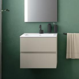 Cosmic Mod Waschtisch mit Waschtischunterschrank mit 2 Auszügen Front mokka / Korpus mokka