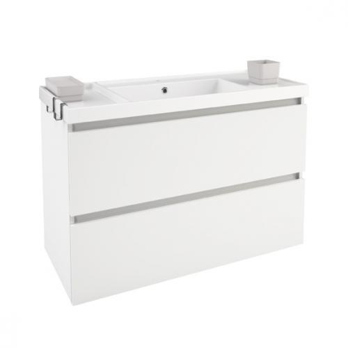 cosmic b box waschbecken mit unterschrank mit 2 schubladen wei matt b05011001157 reuter. Black Bedroom Furniture Sets. Home Design Ideas